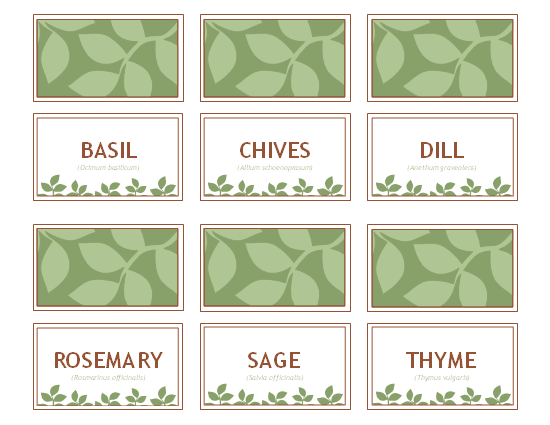 6 Images of Herb Garden Labels Printable