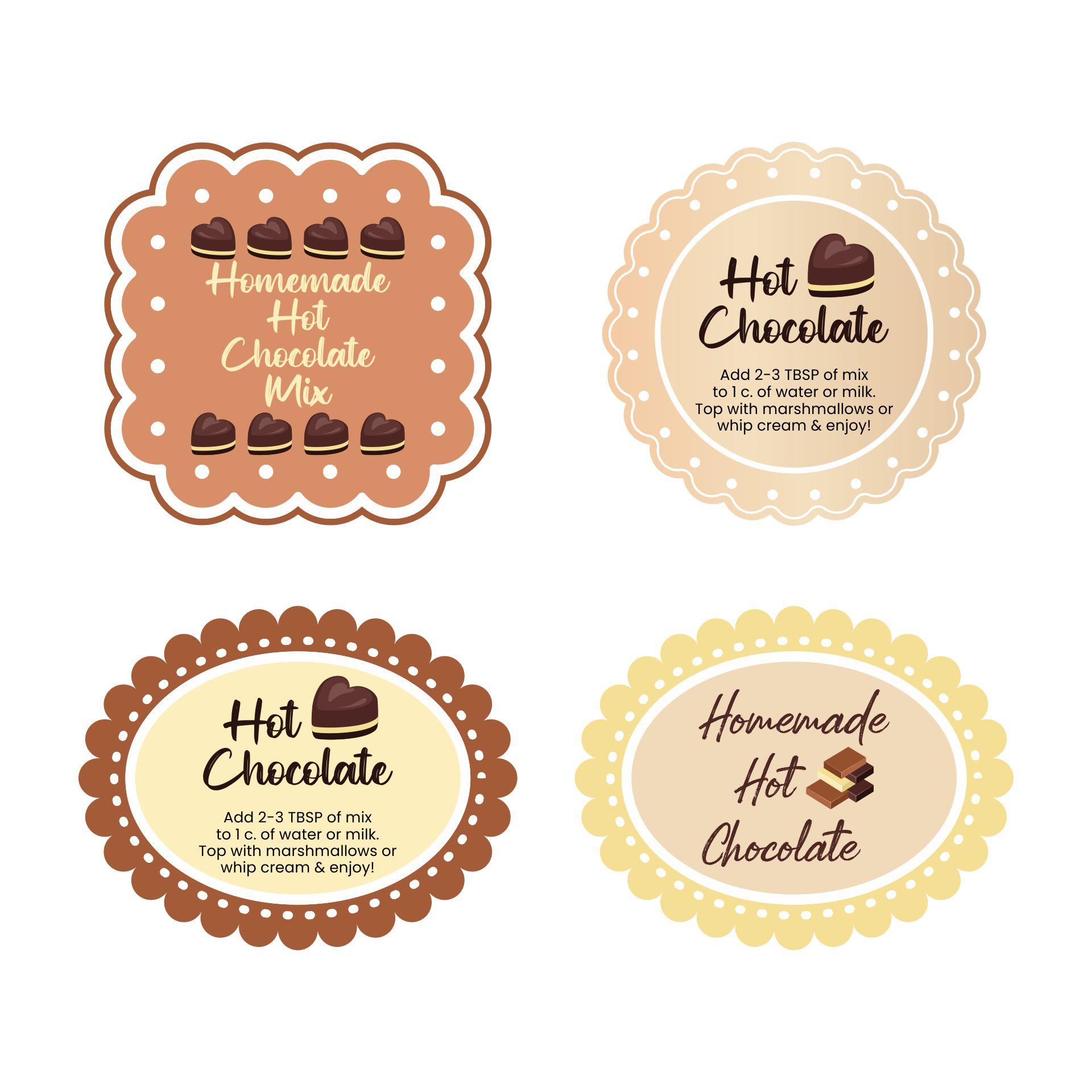 Homemade Hot Chocolate Label