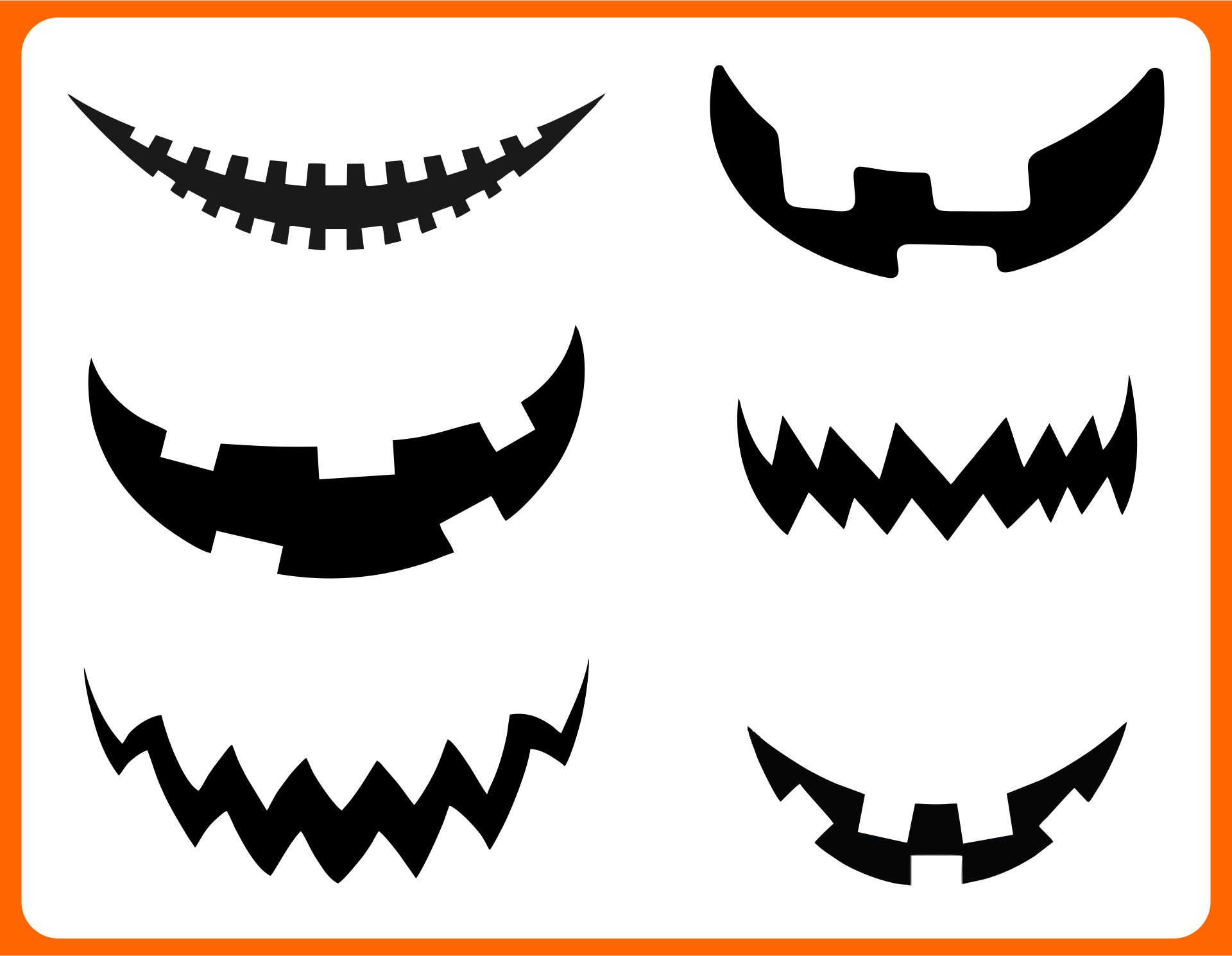 pumpkin mouth template - 6 best images of printable eyes nose mouth templates