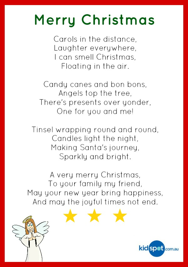 Kids Christmas Poems