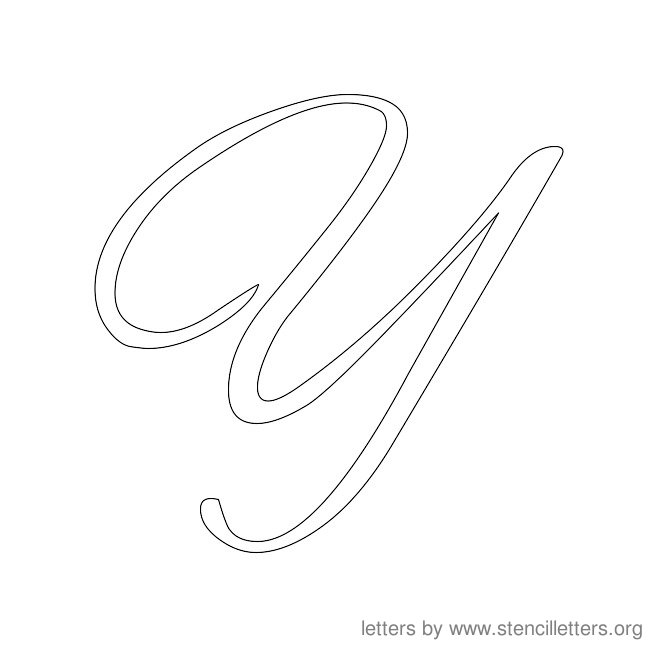 7 best images of cursive letters template free printable for Large cursive letter stencils