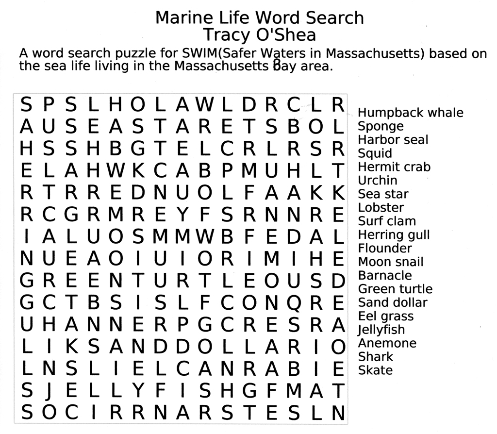 - 7 Best Images Of Fun Printable Puzzles - Large Print Word Search