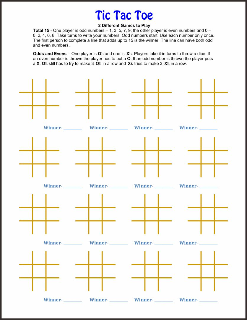 Math Worksheets and Games