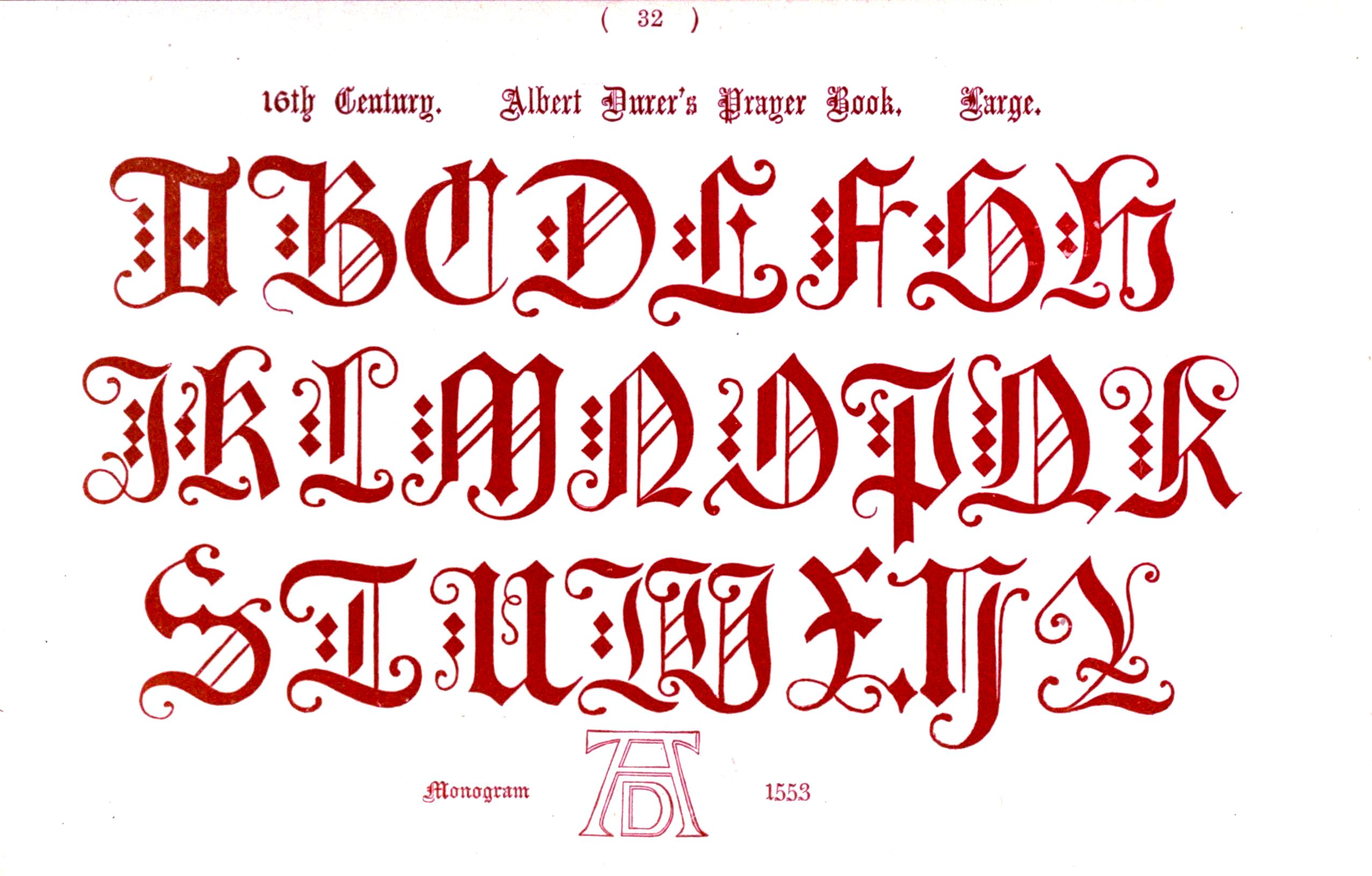 6 Images of Printable Medieval Letters