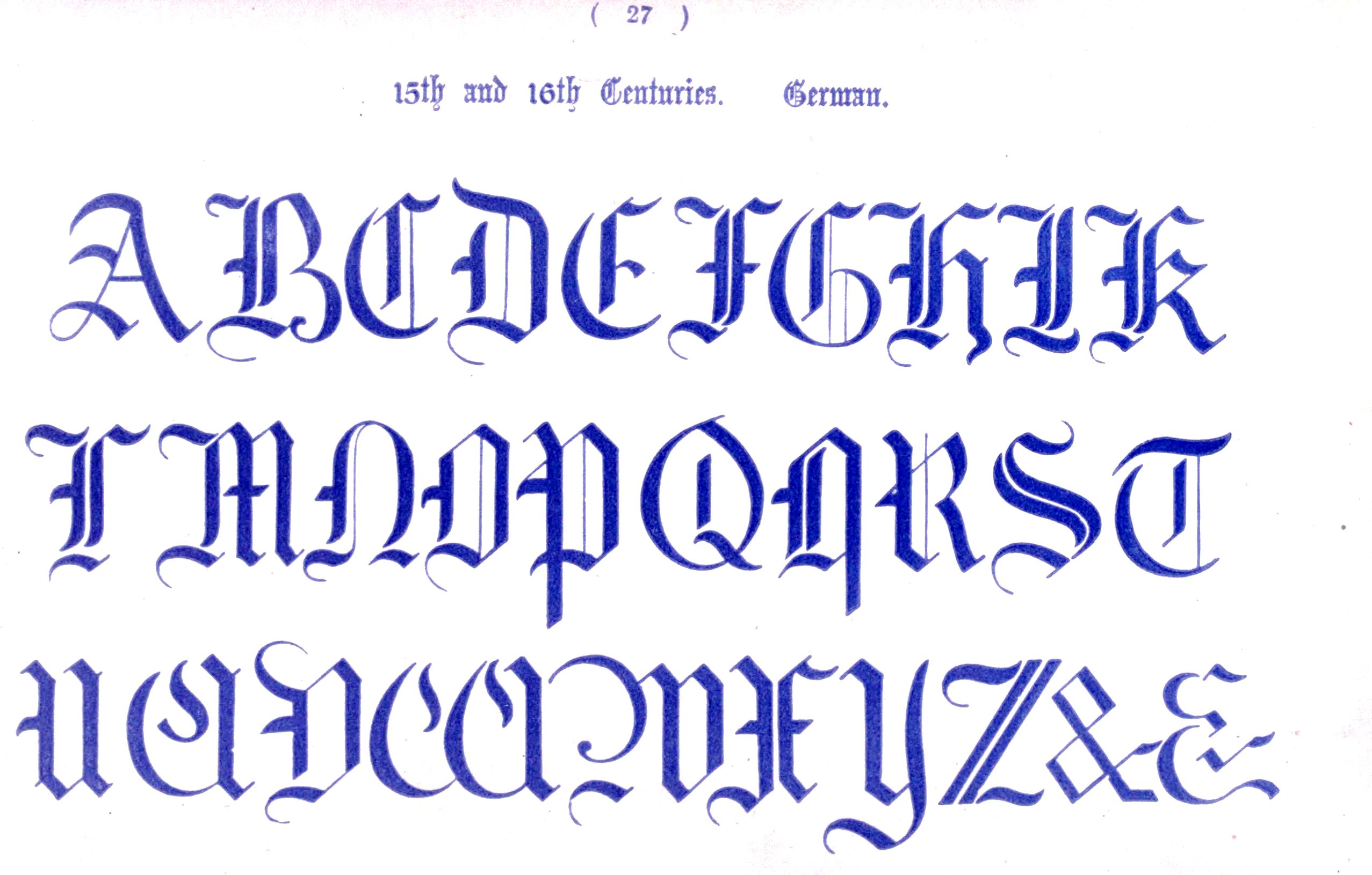 Best images of printable medieval letters