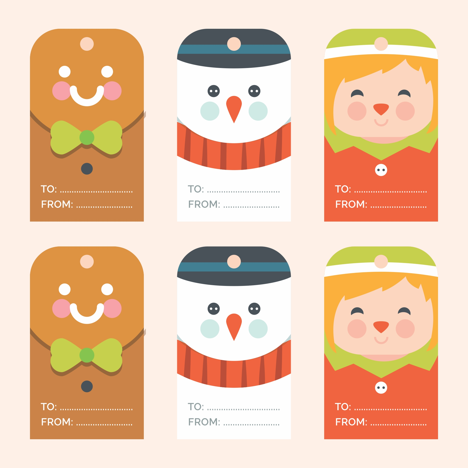 5 Best Images of Happy Holidays Free Tags Printable ...