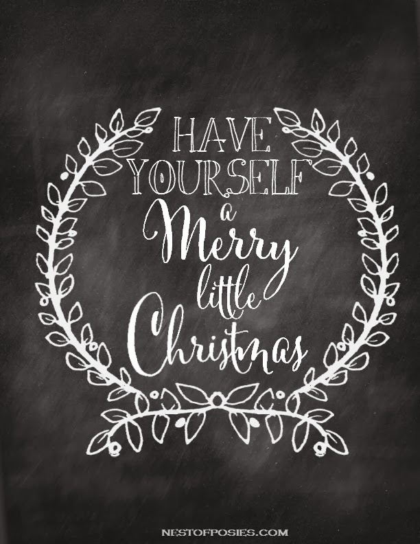 6 Images of Merry Christmas Chalk Printables