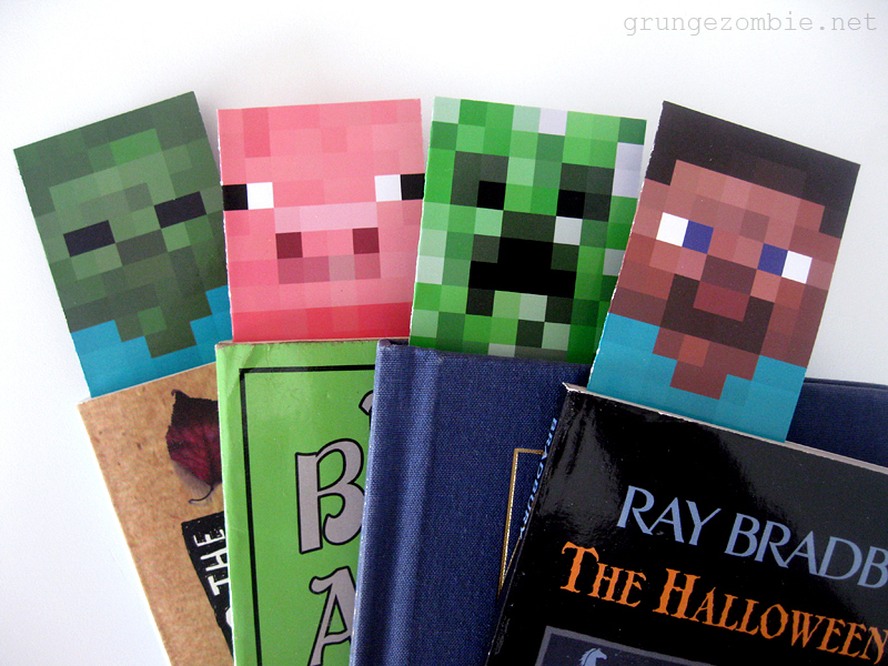 Minecraft Printable Bookmarks