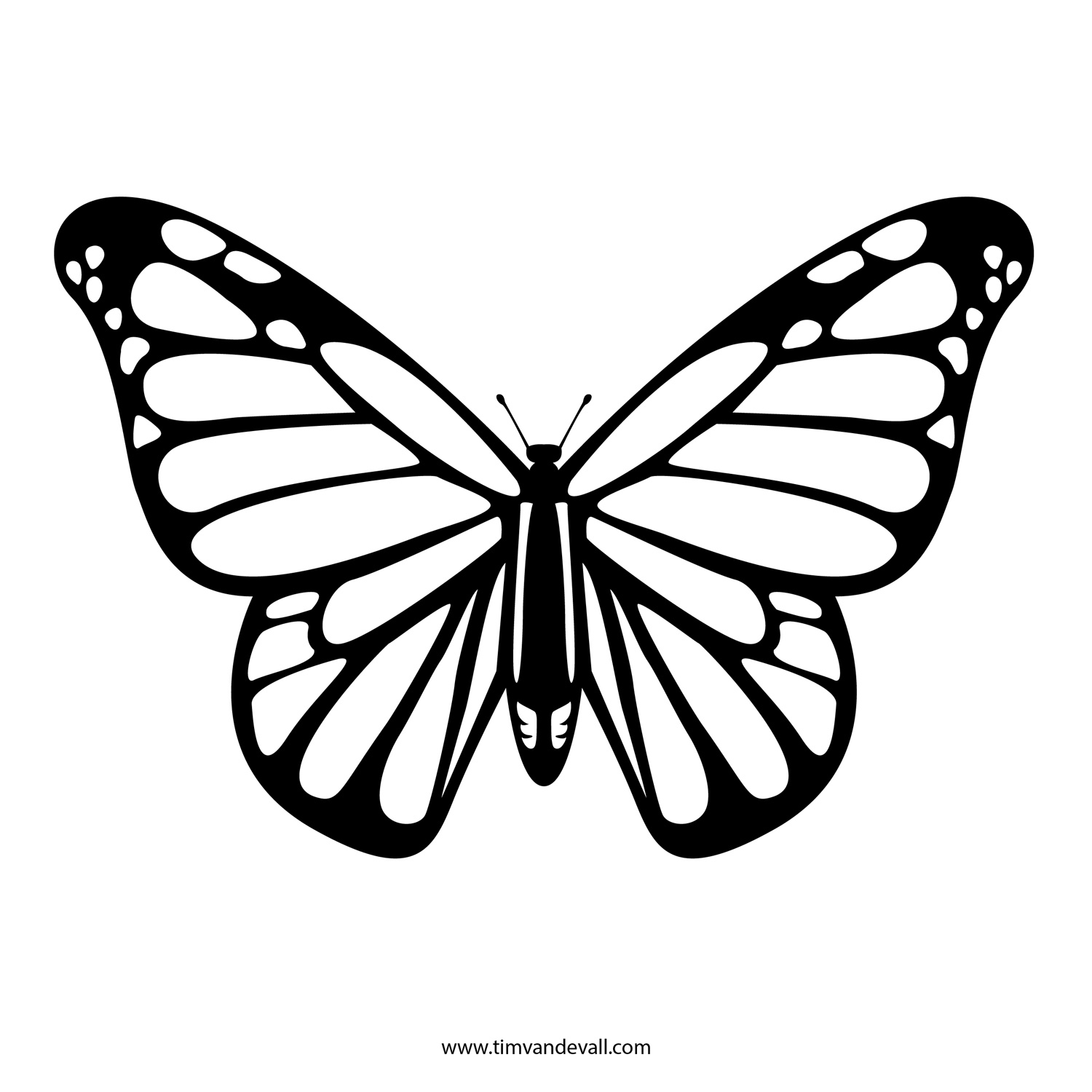5 Images of Free Printable Butterfly Outline