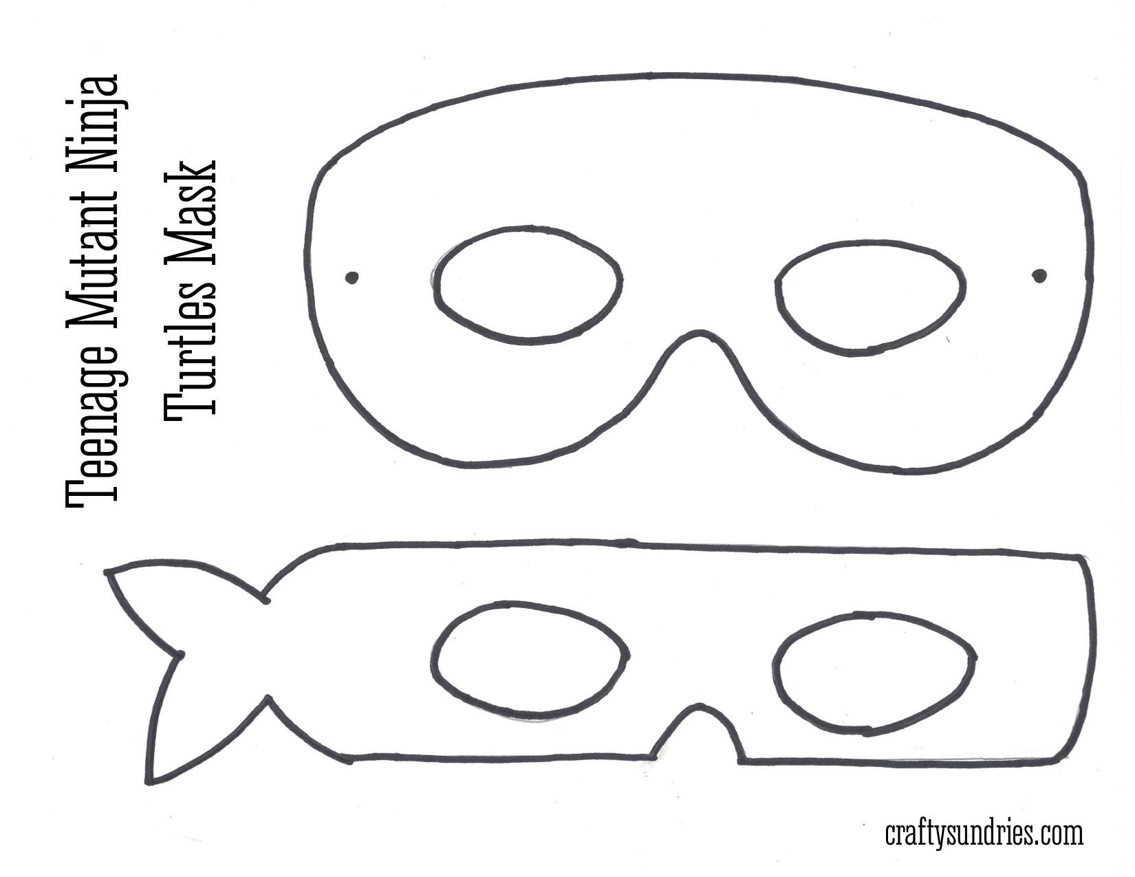 Best Images Of Ninja Turtle Template Printable Mask