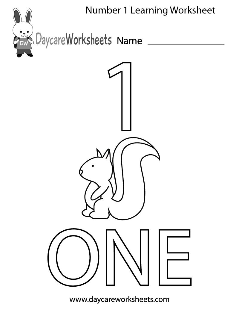 7 Images of Printable Number Worksheet 1