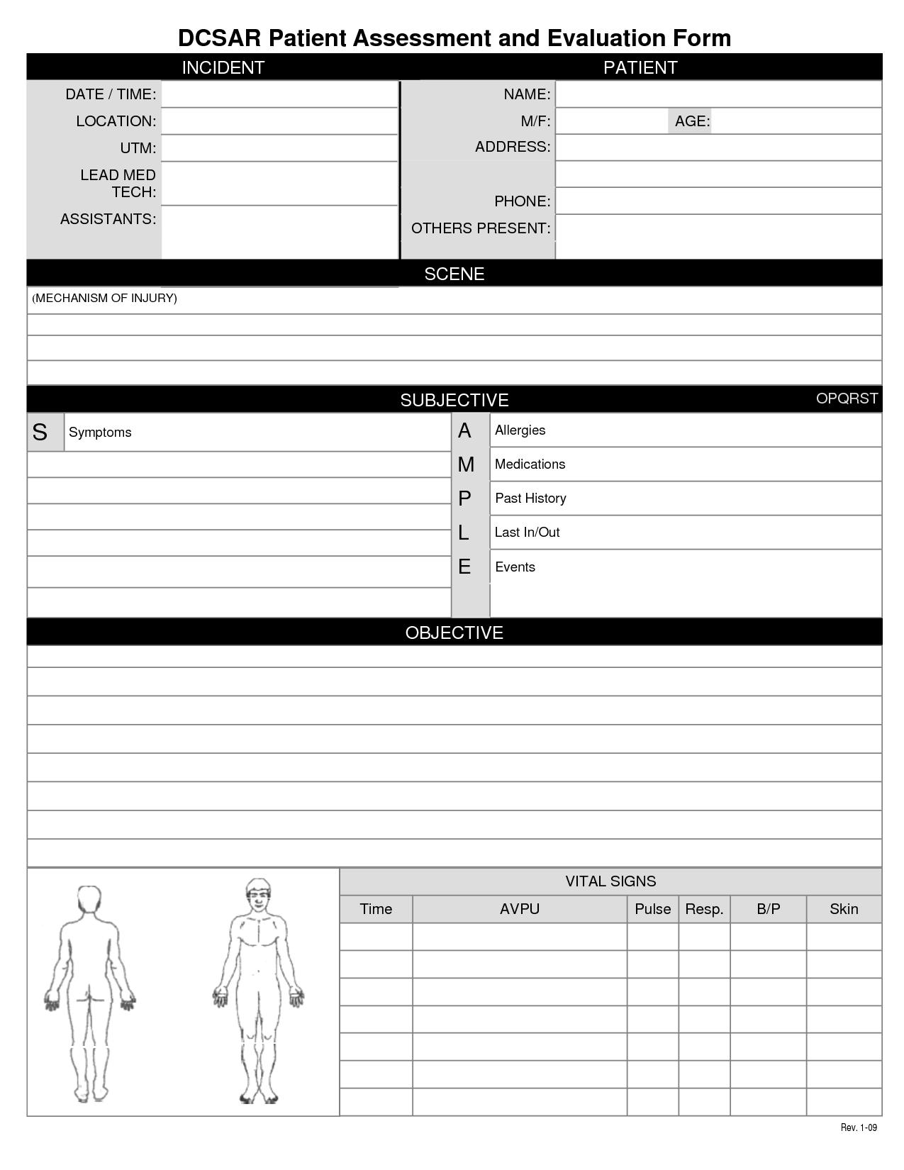 health assessment template – Sample Health Assessment Template