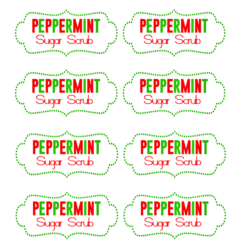 8 Images of Peppermint Sugar Scrub Labels Free Printable