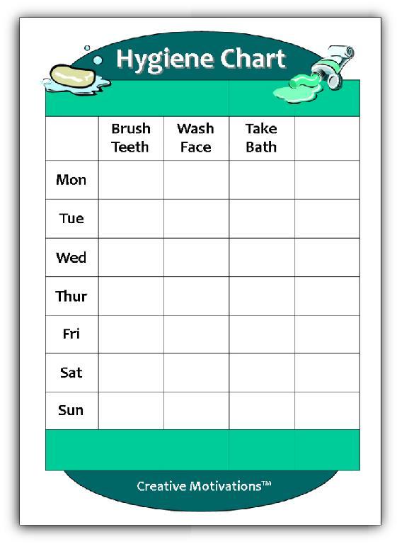 Number Names Worksheets free hygiene worksheets : 8 Best Images of Printable Hygiene Chart - Personal Hygiene Chart ...