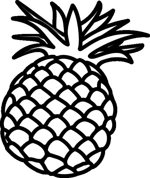 Pineapple Clip Art Black and White