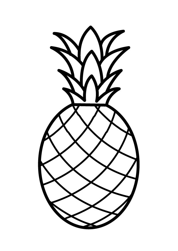 6 Images of Pineapple Outline Printable