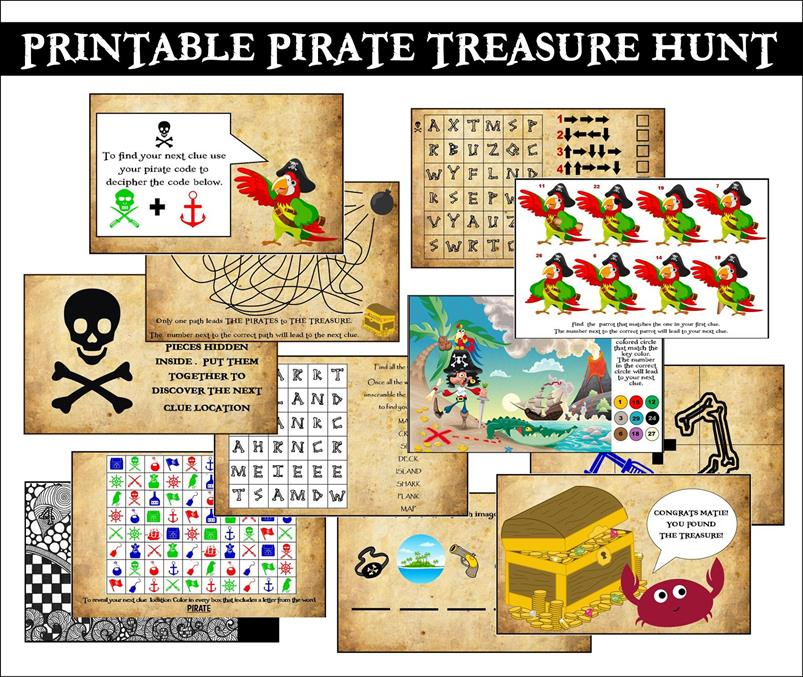 4 Images of Printable Pirate Treasure Hunt Clues