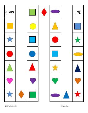 6 Images of Printable Shape Games For Preschoolers