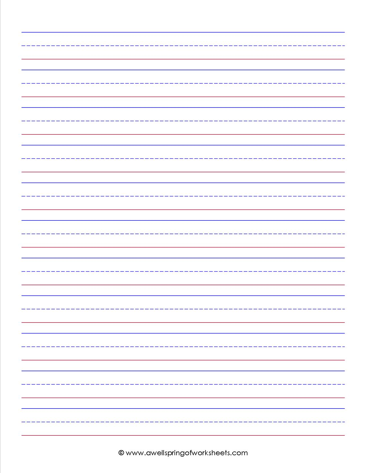 .primary writing paper vertical with illustration box and lines by