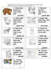 7 Images of Retelling Brown Bear Printable
