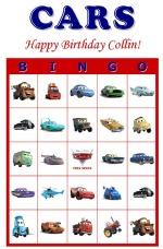 7 Images of Disney Car Bingo Printables