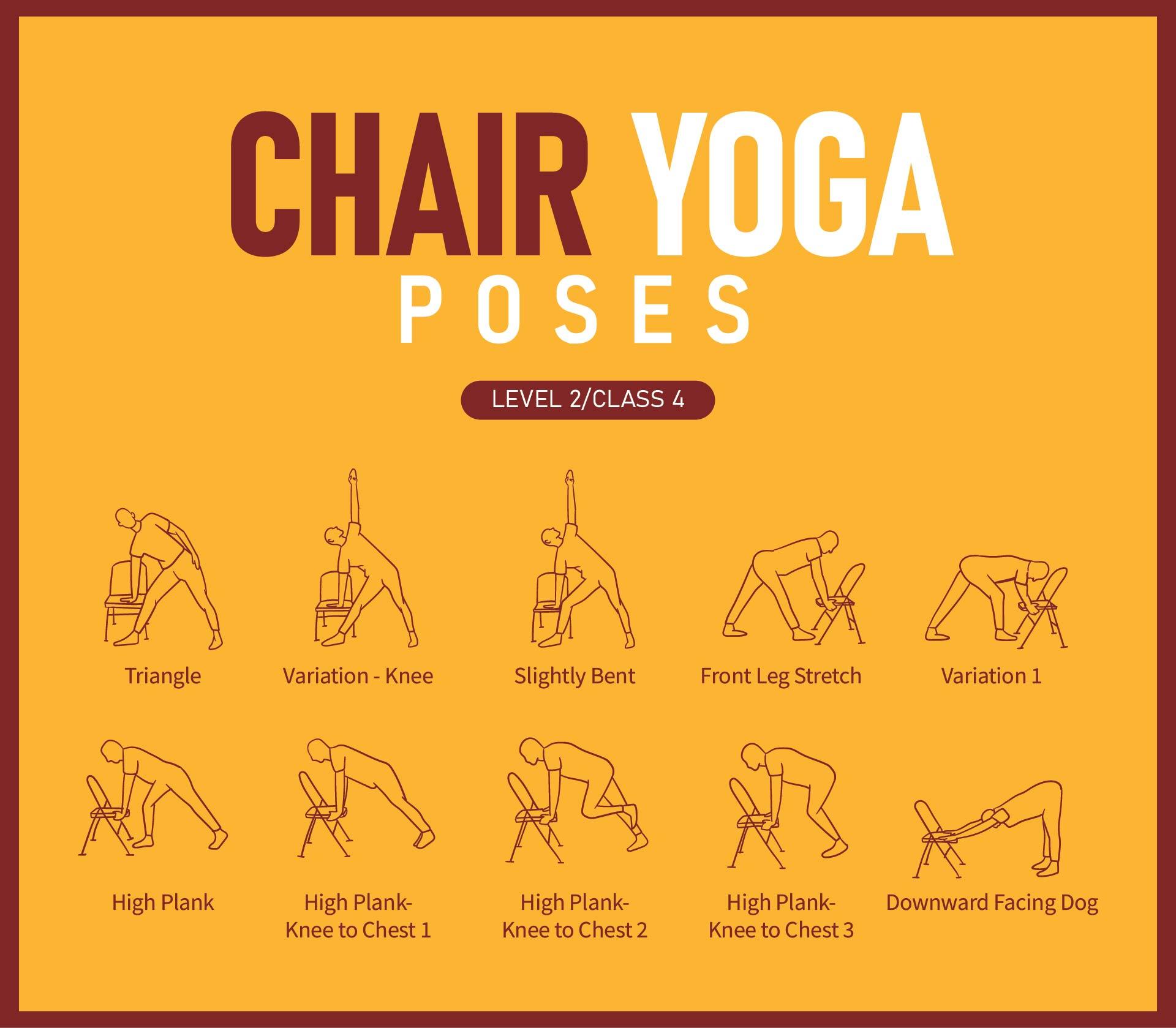 Printable Chair Yoga Poses