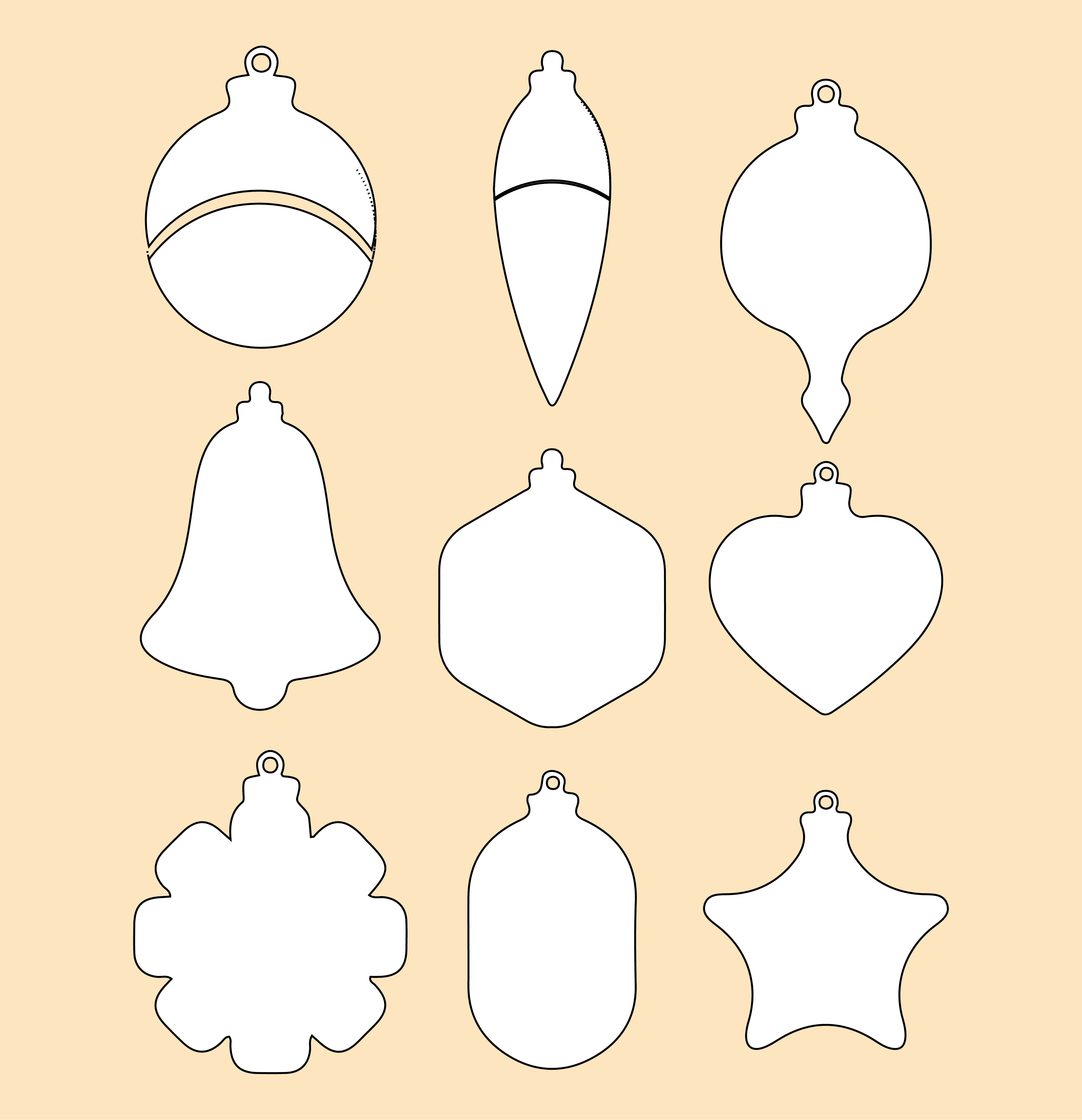 8 Images of Free Printable Christmas Ornament Patterns