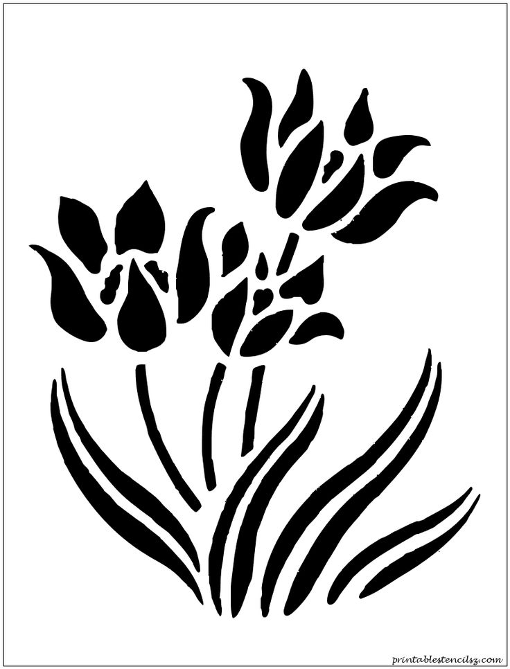 8 Images of Printable Stencils Flowers