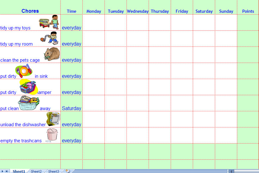 7 Best Images of Printable Blank Weekly Chore Chart ...