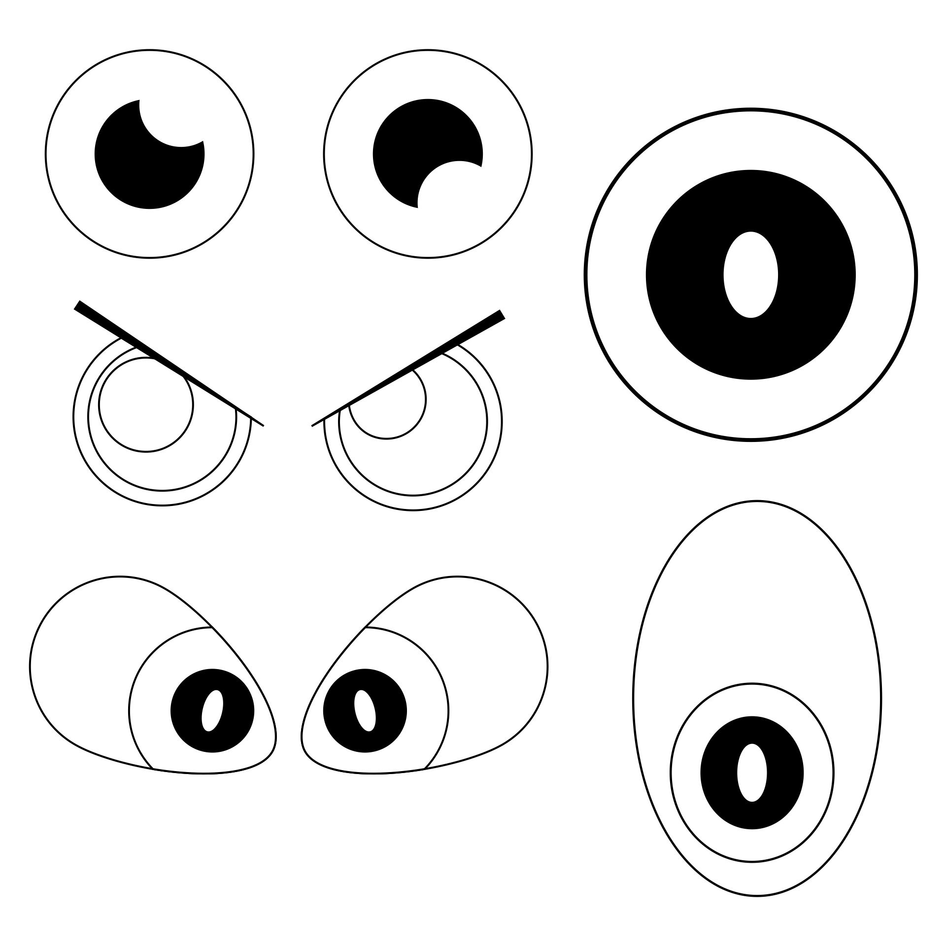 6 best images of printable eyes nose mouth templates for Mosnter template