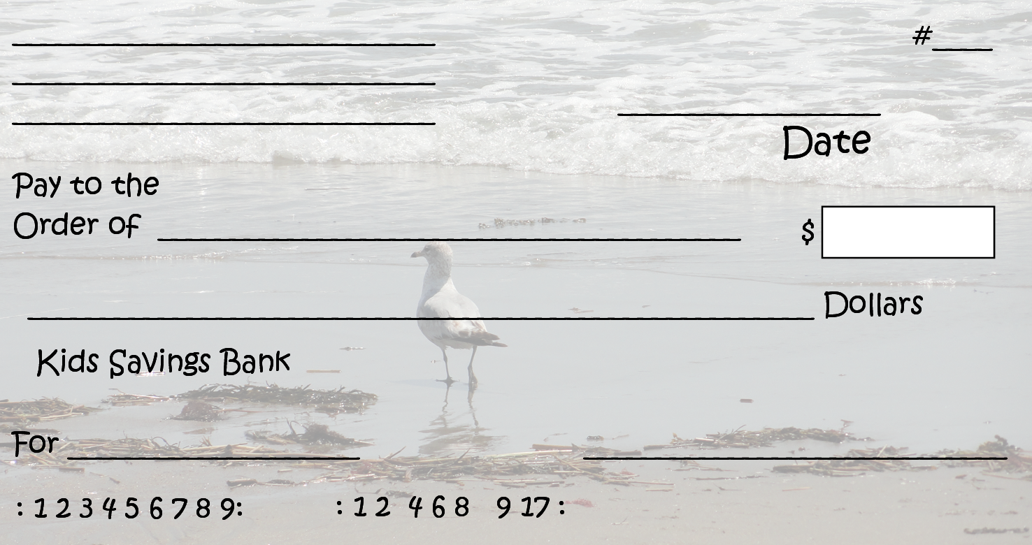 This is a picture of Printable Checks for Kids in big