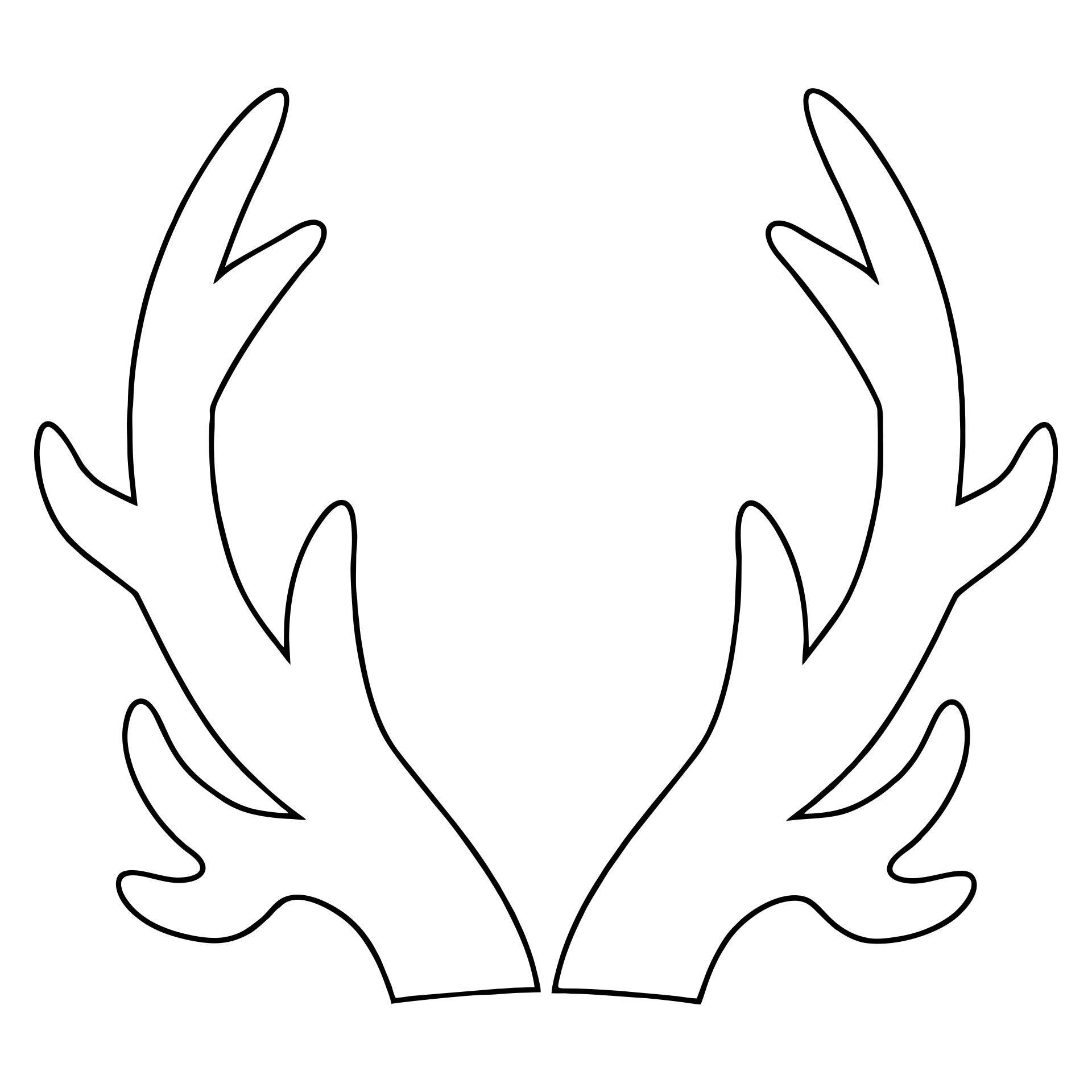 Printable Reindeer Antler Patterns