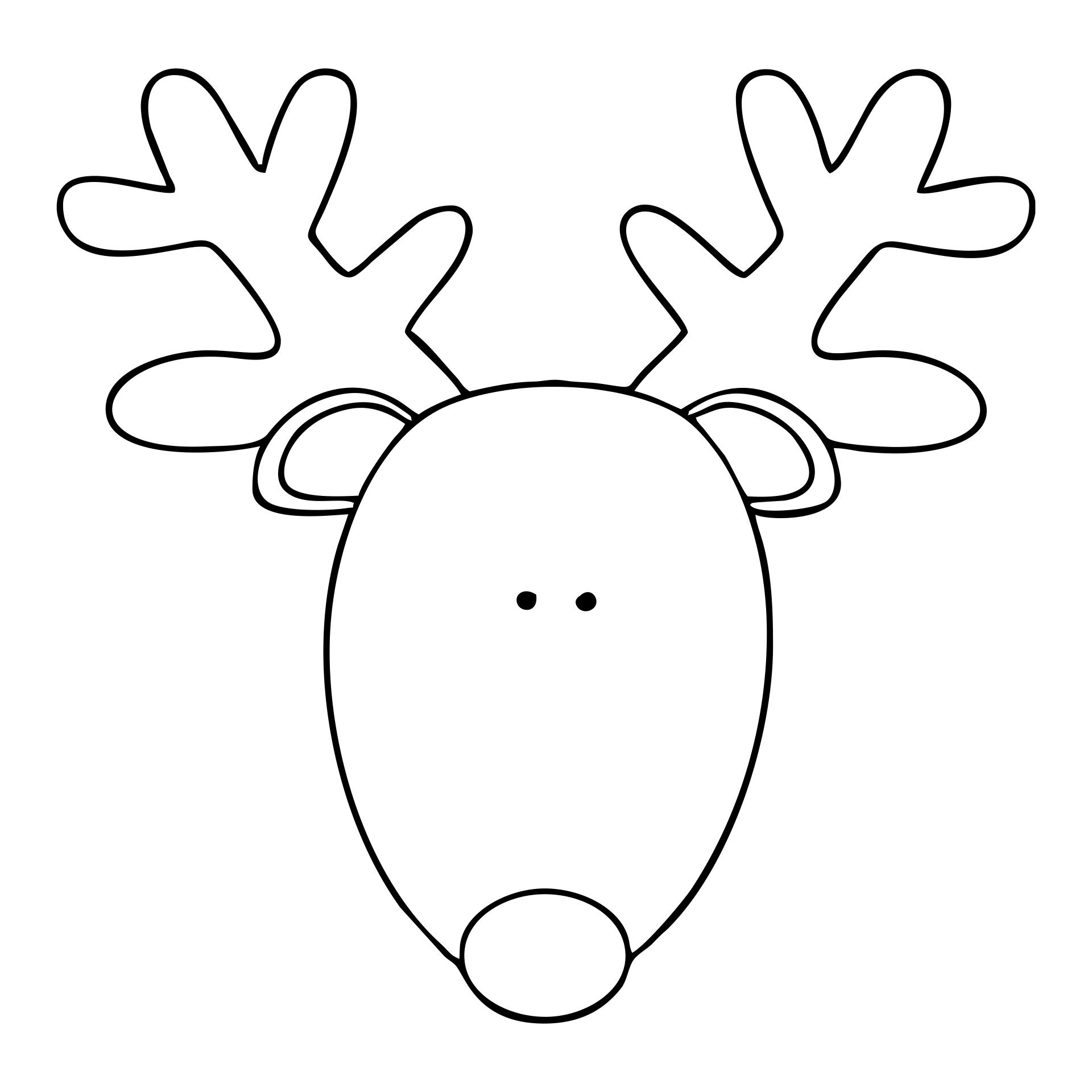 Printable Reindeer Head Pattern