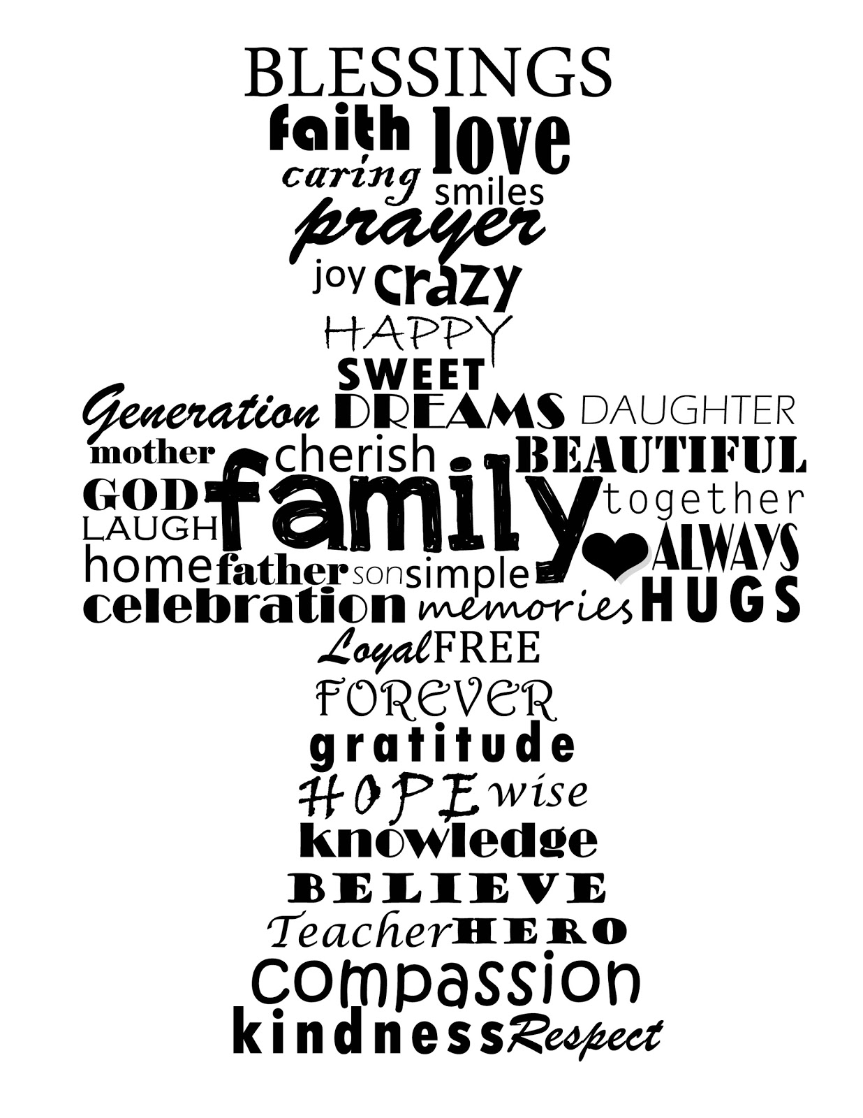 8 Images of Free Printable Christian Word Art