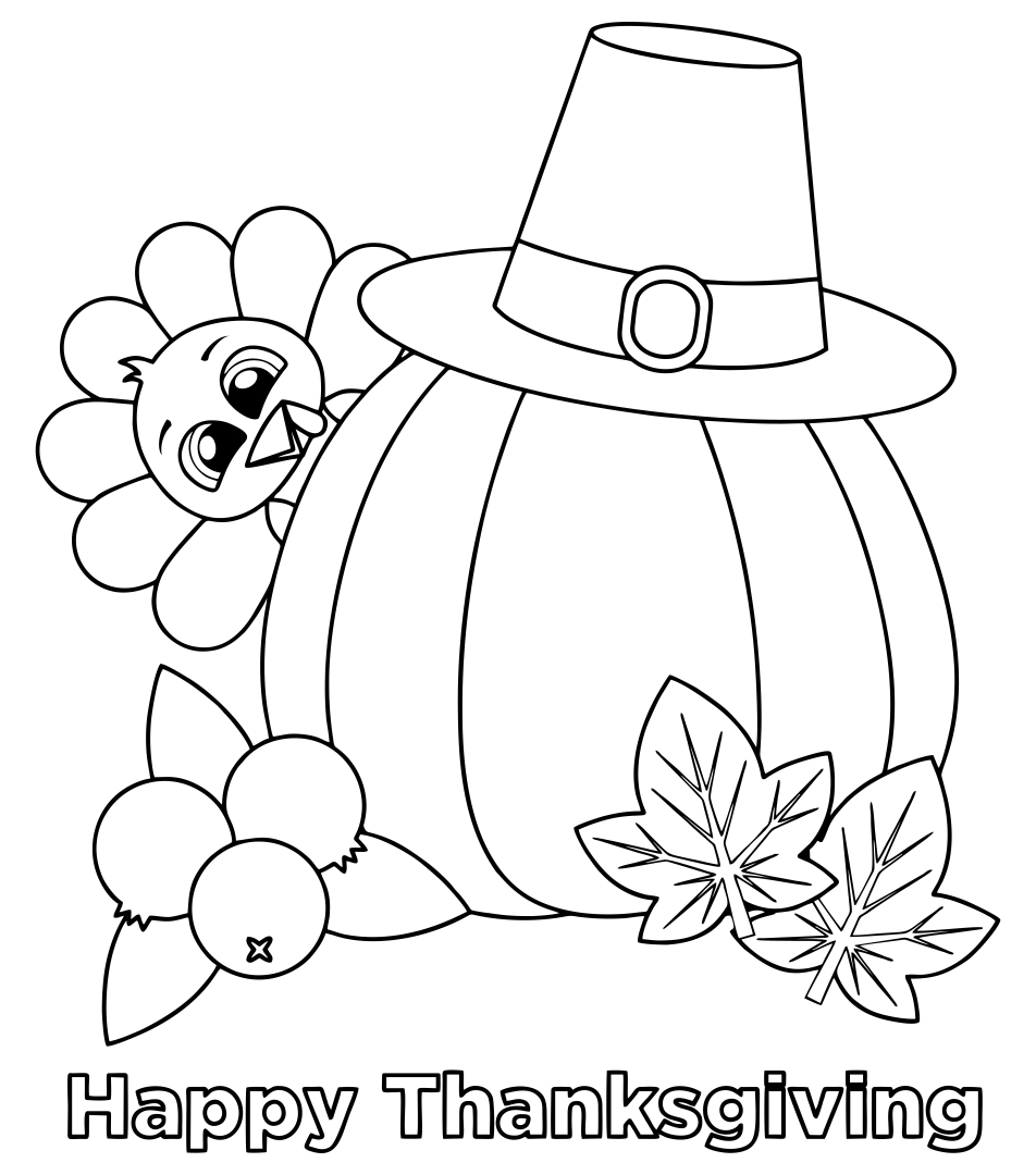 turkey coloring pages thanksgiving