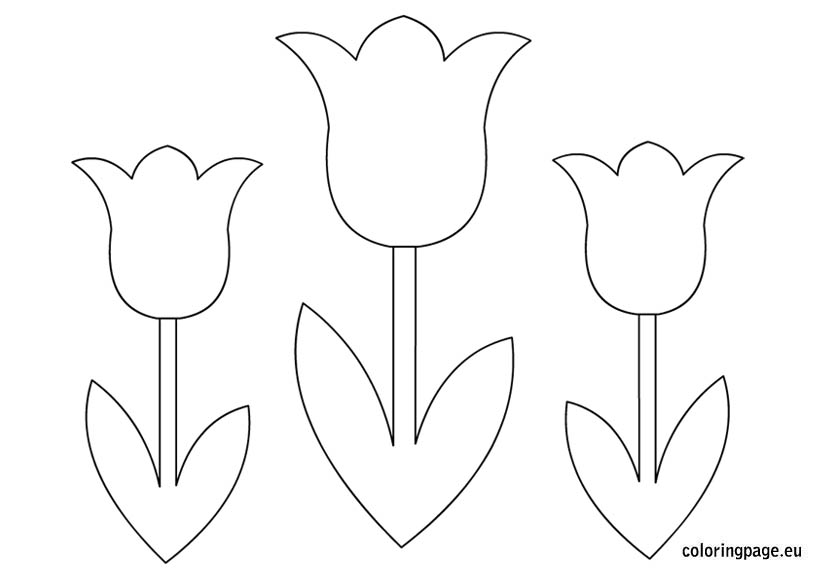 7 Images of Spring Tulip Flower Templates Printables
