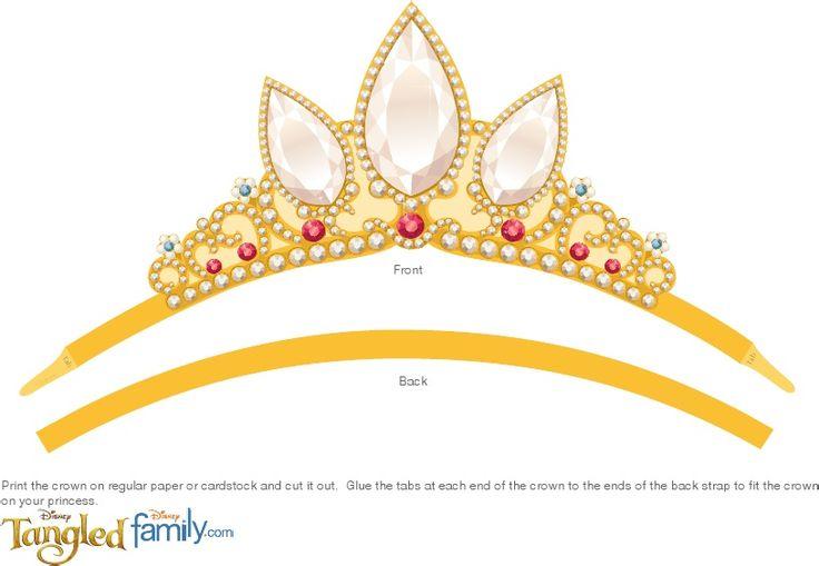 8 Images of Tangled Crown Printable Princess