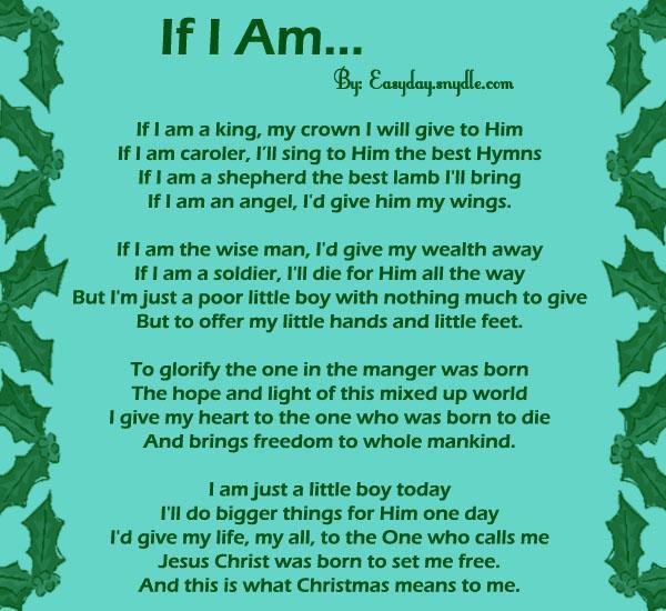 Religious Christmas Poems Children