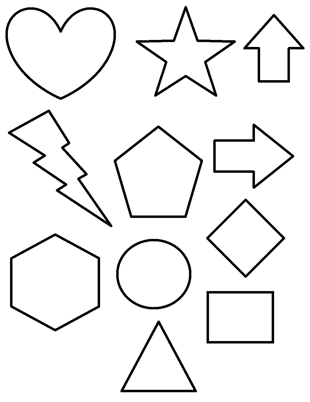 4 Images of Printable Shape Coloring Pages