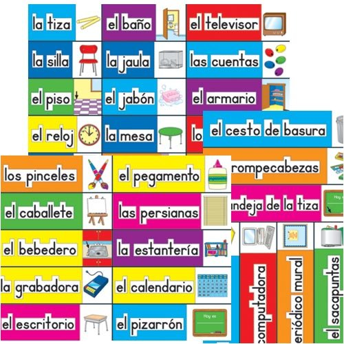 7 Images of Spanish Classroom Labels Printable