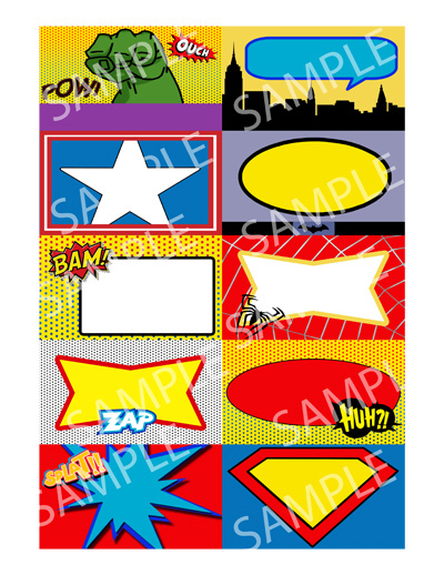 8 Images of Superhero Name Tags Printable Free