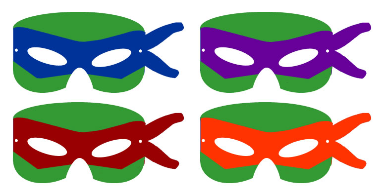 Striking image for ninja turtle printable masks