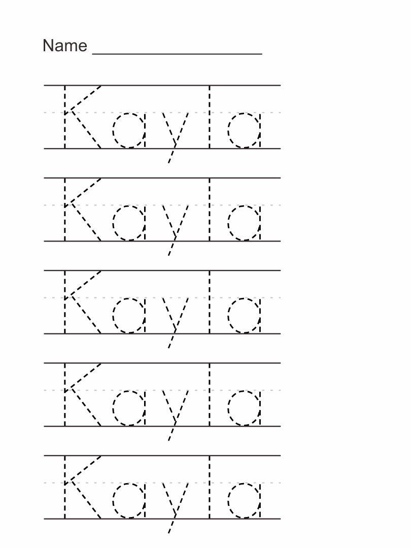 Tracing Name Worksheets Writing