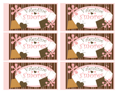 7 Images of Valentine S'mores Printable