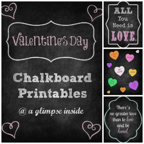 6 Images of Owl Valentine Printables Chalkboard