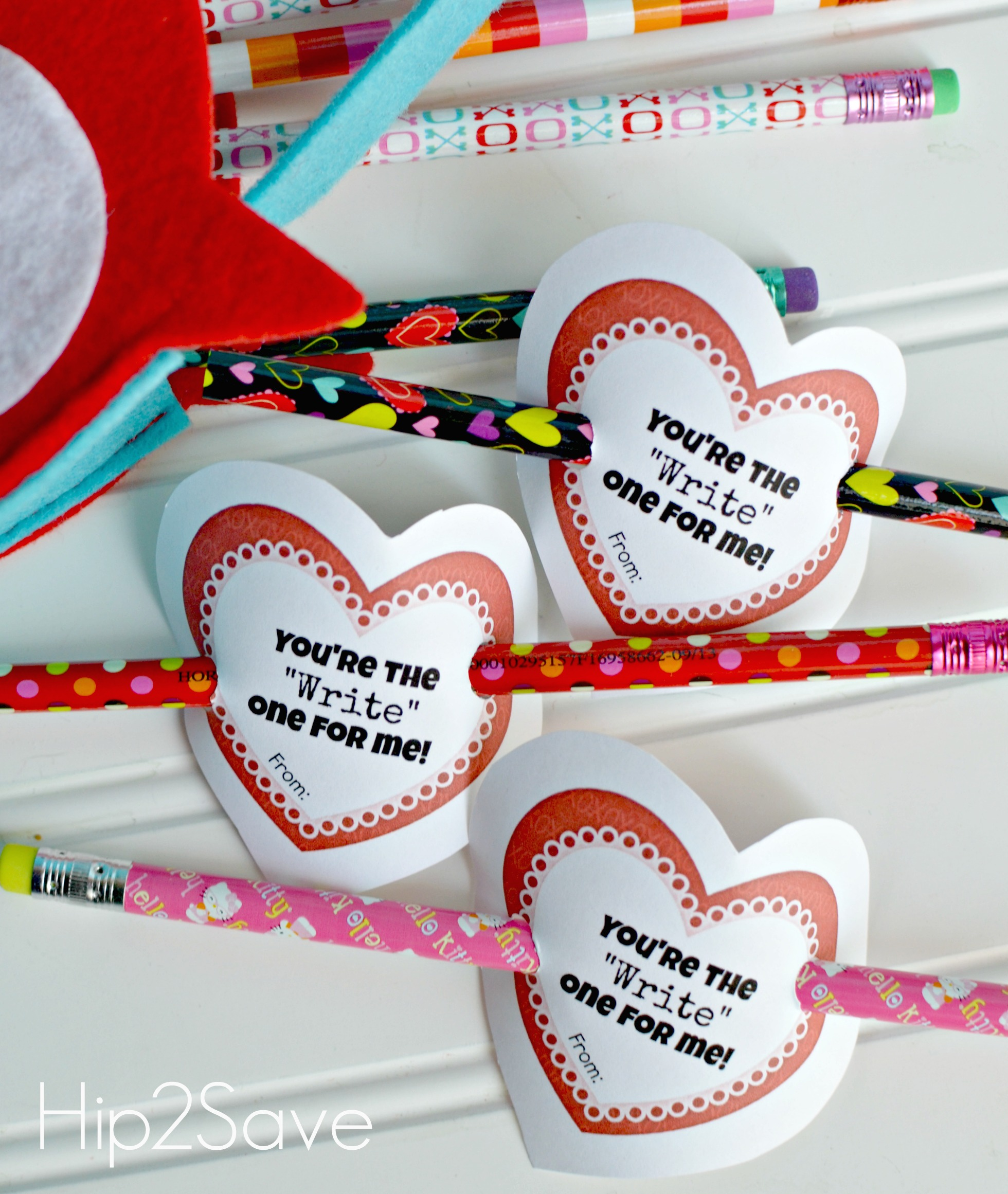 Valentine's Pencil Printable