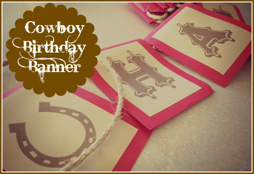 8 Images of Cowboy Birthday Banner Free Printables