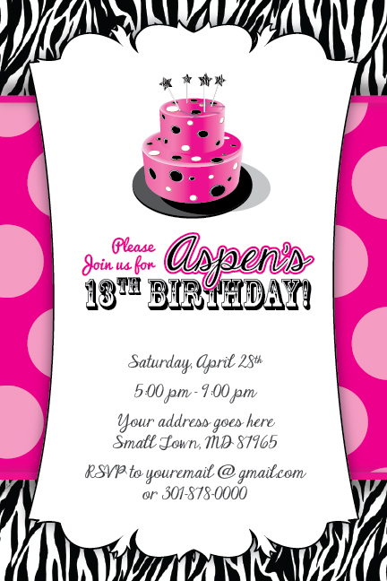7 best images of free printable 13th birthday invitations