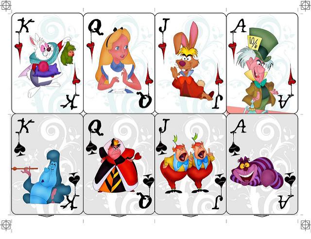 4 Best Images Of Printable Alice In Wonderland Card Soldiers