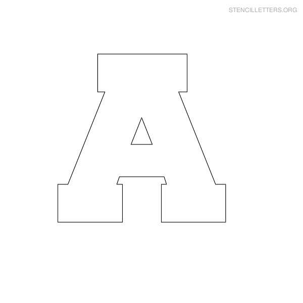 5 Images of Free Printable Block Letter Stencils
